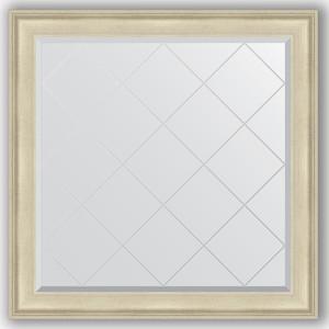 Зеркало с гравировкой Evoform Exclusive-G 108x108 см, в багетной раме - травленое серебро 95 мм (BY 4456)
