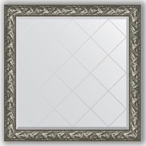 Зеркало с гравировкой Evoform Exclusive-G 109x109 см, в багетной раме - византия серебро 99 мм (BY 4458)