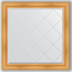 Зеркало с гравировкой Evoform Exclusive-G 109x109 см, в багетной раме - травленое золото 99 мм (BY 4460)