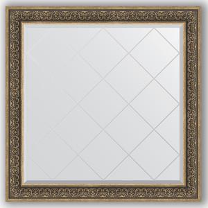 Зеркало с гравировкой Evoform Exclusive-G 109x109 см, в багетной раме - вензель серебряный 101 мм (BY 4465) зеркало в багетной раме evoform definite 73x73 см вензель серебряный 101 мм by 3160