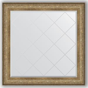 Зеркало с гравировкой Evoform Exclusive-G 110x110 см, в багетной раме - виньетка античная бронза 109 мм (BY 4468)