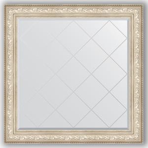Зеркало с гравировкой Evoform Exclusive-G 110x110 см, в багетной раме - виньетка серебро 109 мм (BY 4469) зеркало evoform exclusive g 78х60 виньетка серебро