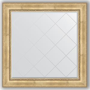 Зеркало с гравировкой Evoform Exclusive-G 112x112 см, в багетной раме - состаренное серебро с орнаментом 120 мм (BY 4471) зеркало evoform exclusive g floor 207х87 состаренное серебро с орнаментом