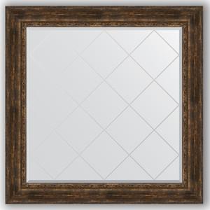 Зеркало с гравировкой Evoform Exclusive-G 112x112 см, в багетной раме - состаренное дерево с орнаментом 120 мм (BY 4473) цены