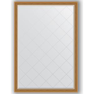 Зеркало с гравировкой поворотное Evoform Exclusive-G 128x183 см, в багетной раме - состаренное золото с плетением 70 мм (BY 4475) зеркало evoform exclusive g 86х63 состаренное золото с плетением
