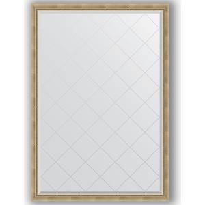 Зеркало с гравировкой поворотное Evoform Exclusive-G 128x183 см, в багетной раме - состаренное серебро с плетением 70 мм (BY 4476) зеркало evoform exclusive g 128х73 состаренное серебро с плетением