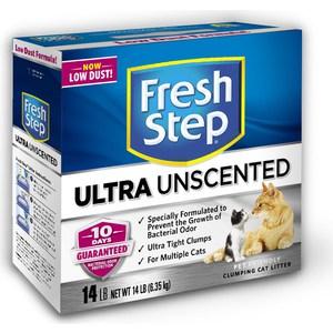 Наполнитель Fresh Step Odor Shield Unscented комкующийся без ароматизатора для кошек 6,35кг (1310)
