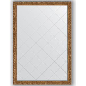 Зеркало с гравировкой поворотное Evoform Exclusive-G 130x185 см, в багетной раме - виньетка бронзовая 85 мм (BY 4486)