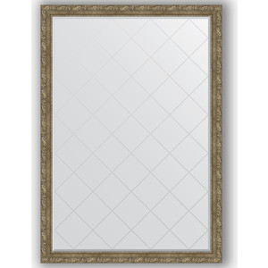 Зеркало с гравировкой поворотное Evoform Exclusive-G 130x185 см, в багетной раме - виньетка античная латунь 85 мм (BY 4489)