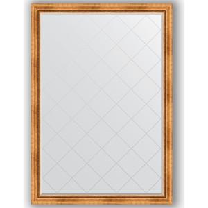 Зеркало с гравировкой поворотное Evoform Exclusive-G 131x186 см, в багетной раме - римское золото 88 мм (BY 4490)