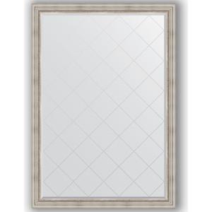 Зеркало с гравировкой поворотное Evoform Exclusive-G 131x186 см, в багетной раме - римское серебро 88 мм (BY 4491) зеркало evoform exclusive g 186х131 римское серебро