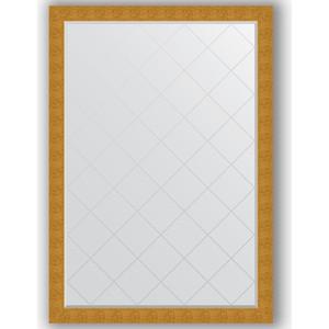 Зеркало с гравировкой поворотное Evoform Exclusive-G 131x186 см, в багетной раме - чеканка золотая 90 мм (BY 4495) зеркало с гравировкой поворотное evoform exclusive g 66x156 см в багетной раме чеканка золотая 90 мм by 4151