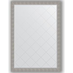 Зеркало с гравировкой поворотное Evoform Exclusive-G 131x186 см, в багетной раме - чеканка серебряная 90 мм (BY 4496) фото