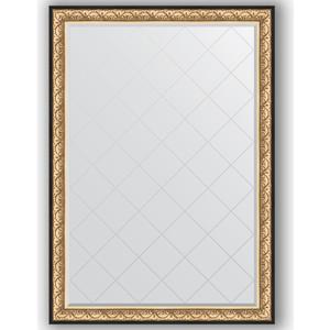 Зеркало с гравировкой поворотное Evoform Exclusive-G 135x190 см, в багетной раме - барокко золото 106 мм (BY 4509) зеркало с гравировкой поворотное evoform exclusive g 70x160 см в багетной раме барокко золото 106 мм by 4165