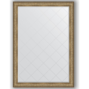 Зеркало с гравировкой поворотное Evoform Exclusive-G 135x190 см, в багетной раме - виньетка античная бронза 109 мм (BY 4511)