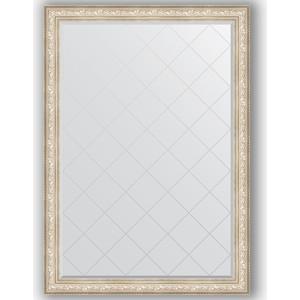 Зеркало с гравировкой поворотное Evoform Exclusive-G 135x190 см, в багетной раме - виньетка серебро 109 мм (BY 4512) зеркало evoform exclusive g 78х60 виньетка серебро