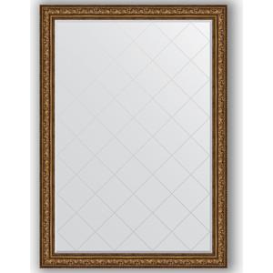 Зеркало с гравировкой поворотное Evoform Exclusive-G 135x190 см, в багетной раме - виньетка состаренная бронза 109 мм (BY 4513) зеркало в багетной раме поворотное evoform definite 54x104 см виньетка состаренная бронза 56 мм by 3073