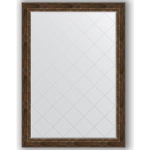 Зеркало с гравировкой поворотное Evoform Exclusive-G 137x192 см, в багетной раме - состаренное дерево орнаментом 120 мм (BY 4516)