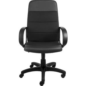 Кресло Алвест AV 112 PL (727) MK ткань 418 черная / кз 311 черный