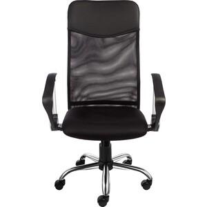 Кресло Алвест AV 128 CH (682 SL) МК кз TW сетка/сетка односл 311/455/470 черн/черн/черная