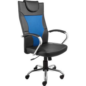 Кресло Алвест AV 134 СН (04) MK экокожа/экокожа перф/сетка однсл 223/253/471 черная/черная перф/синяя кресло алвест av 113 ch 682 sl mk экокожа 223 черная