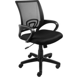 Кресло Алвест AV 214 PL (696) МК TW сетка 455 черная/сетка 470 черная