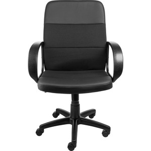 Кресло Алвест AV 209 PL (727) MK ткань 418 черная / кз 311 черный кресло алвест av 112 pl 727 mk ткань 418 черная кз 311 черный