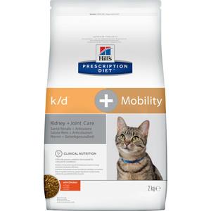 Сухой корм Hills Prescription Diet k/d & Mobility with Chicken с курицей диета при заболеваниях почек и суставов для кошек 2кг (10748)