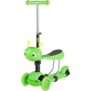 Самокат-кикборд NOVATRACK Disco-kids, детский трансформер, max 40кг, зеленый (120S.DISCOKIDS.GN7)