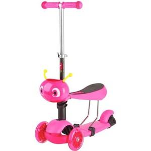 Самокат-кикборд NOVATRACK Disco-kids, детский трансформер, max 40кг, розовый (120S.DISCOKIDS.PN7)