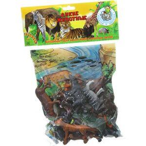 Bondibon Набор животных Ребятам о Зверятах, дикие животные, 4, 20 шт., игровое поле. (ВВ1612) фигурки дикие животные бегемоты 2 шт oem1234416 kari