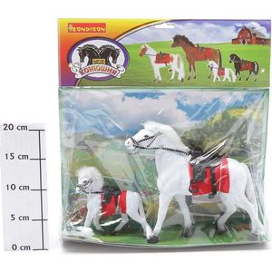 Bondibon Лошадь с уздечкой, седлом 8 жеребенком 6 (ВВ0270)