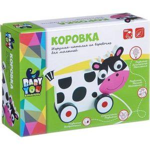 Bondibon Каталка с веревочкой Коровка (ВВ1498)