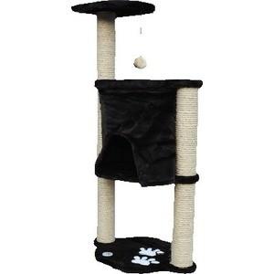 Когтеточка Зооник Комплекс с шатром и помпоном однотонный мех аппликацией для кошек 620 х 420 1240см (22046)