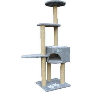 Когтеточка Зооник Комплекс 4-х этажный с лапками для кошек 460 х 760 1510см (22047)