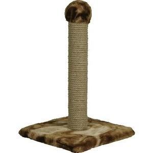 Когтеточка Зооник на подставке цветной мех для кошек 340 х 550см (2231)
