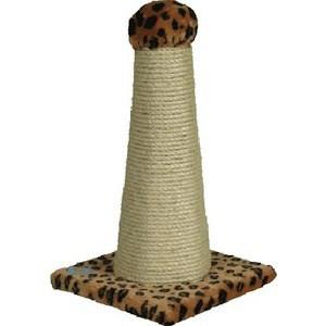 Когтеточка Зооник на подставке шестигранная для кошек 300 х 300 х 550см (22319)
