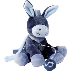 цена на Игрушка мягкая Nattou Musical Soft toy MINI Alex & Bibiou музыкальная Ослик 321075
