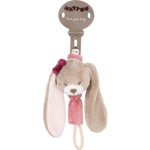 Игрушка мягкая Nattou Держатель соски Pacifinder Nina, Jade & Lili Кролик 987202 коврик игровой круглый nattou nina jade