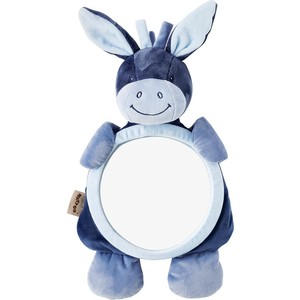 цена на Игрушка мягкая Nattou Зеркало Mirror for car Alex & Bibiou Ослик и Кролик 321334