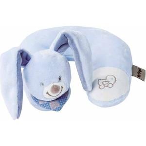 Игрушка мягкая Nattou Подголовник Neck pillow Alex & Bibiou Кролик 321365