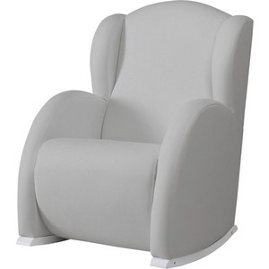 Кресло-качалка Micuna Wing/Flor white/grey искусственная кожа