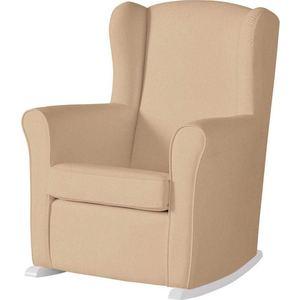 Кресло-качалка Micuna Wing/Nanny white/beige искусственная кожа кресло качалка micuna wing nanny chocolate stripes blue