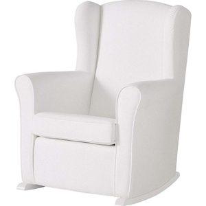 Кресло-качалка Micuna Wing/Nanny white/white искусственная кожа кресло качалка micuna wing flor white кожаная обивка цвет обивки leatherette grey искусственная кожа