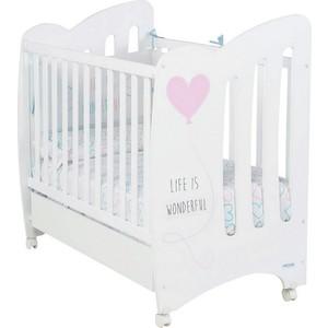 Кроватка Micuna Wonderful 120х60 white/pink