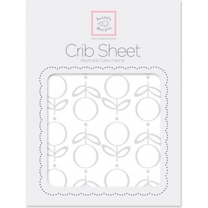 купить Детская простынь SwaddleDesigns Fitted Crib Sheet Sterling Lolli Fleur (SD-603ST) онлайн