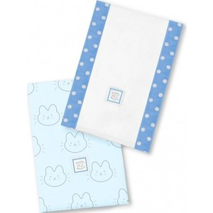 Полотенчики SwaddleDesigns Baby Burpie Set Blue Bunnie (SD-609B)
