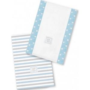 Полотенчики SwaddleDesigns Baby Burpie Set Blue Simple Stripes (SD-621PB) полотенчики swaddledesigns baby burpie set kiwi paisley sd 121kw