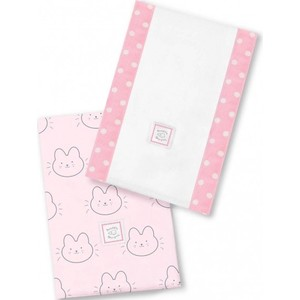 Полотенчики SwaddleDesigns Baby Burpie Set Pink Baby Bunnie (SD-609P)