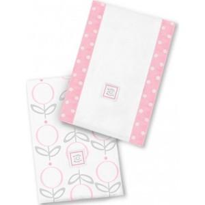 Полотенчики SwaddleDesigns Baby Burpie Set Pink Lolli Fleur (SD-601P)